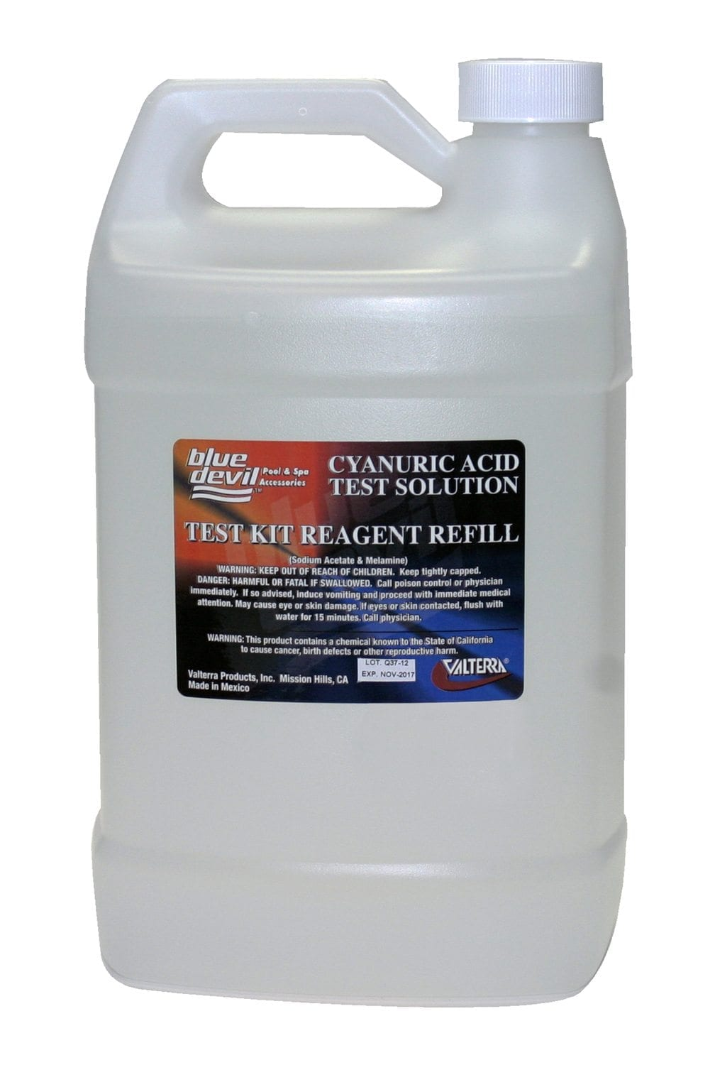 how to add liquid cyanuric acid to pool