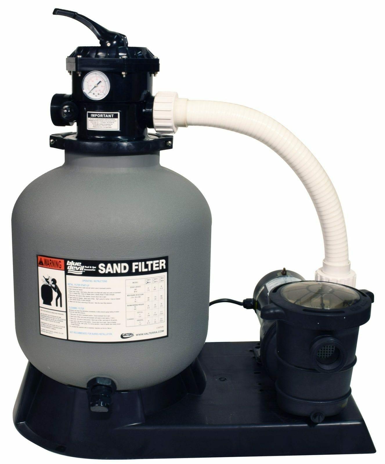 Sand filter 16 w 3 4 hp pump for Bauhaus sandfilterpumpe