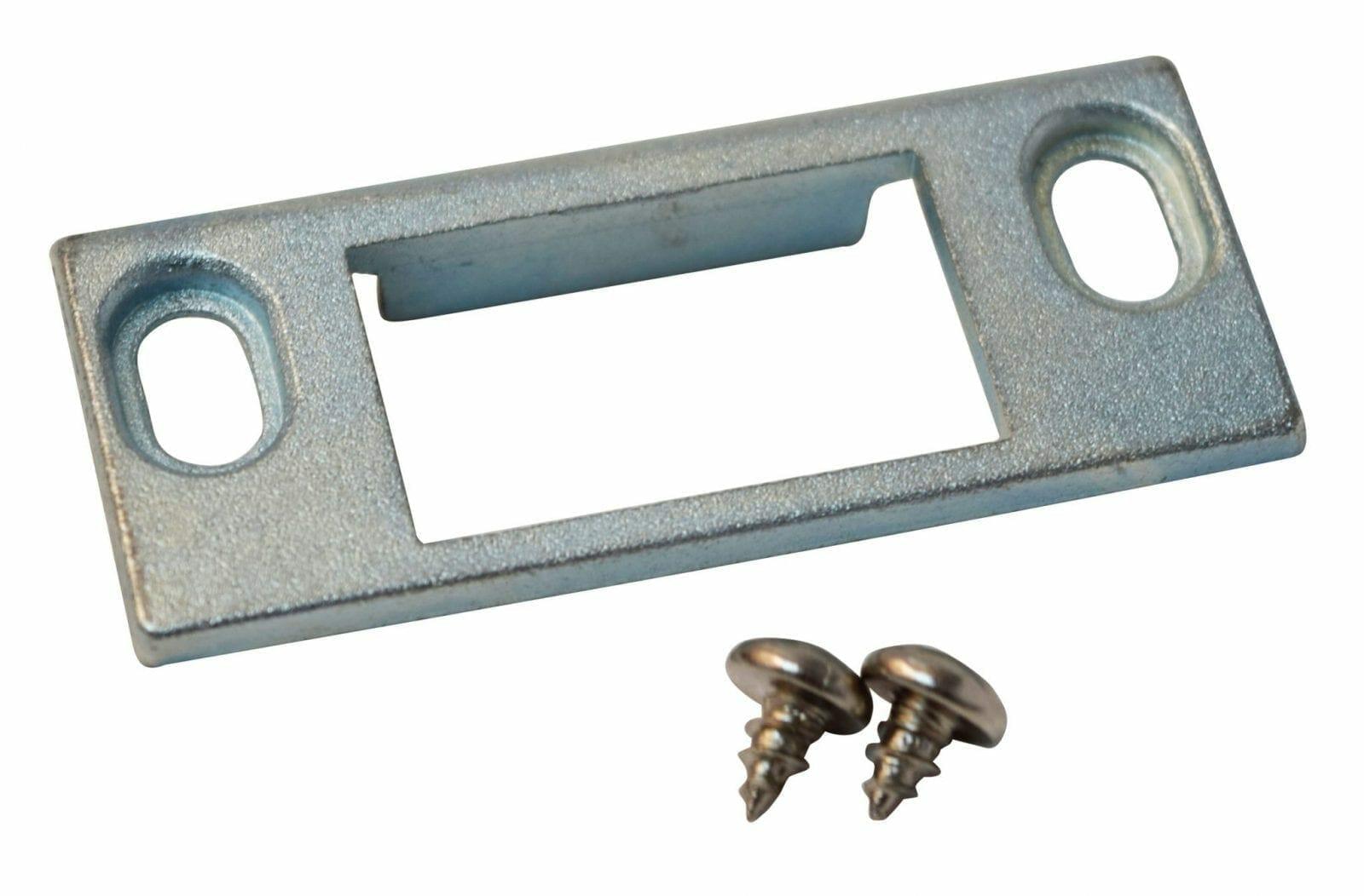 door strike plate with screws