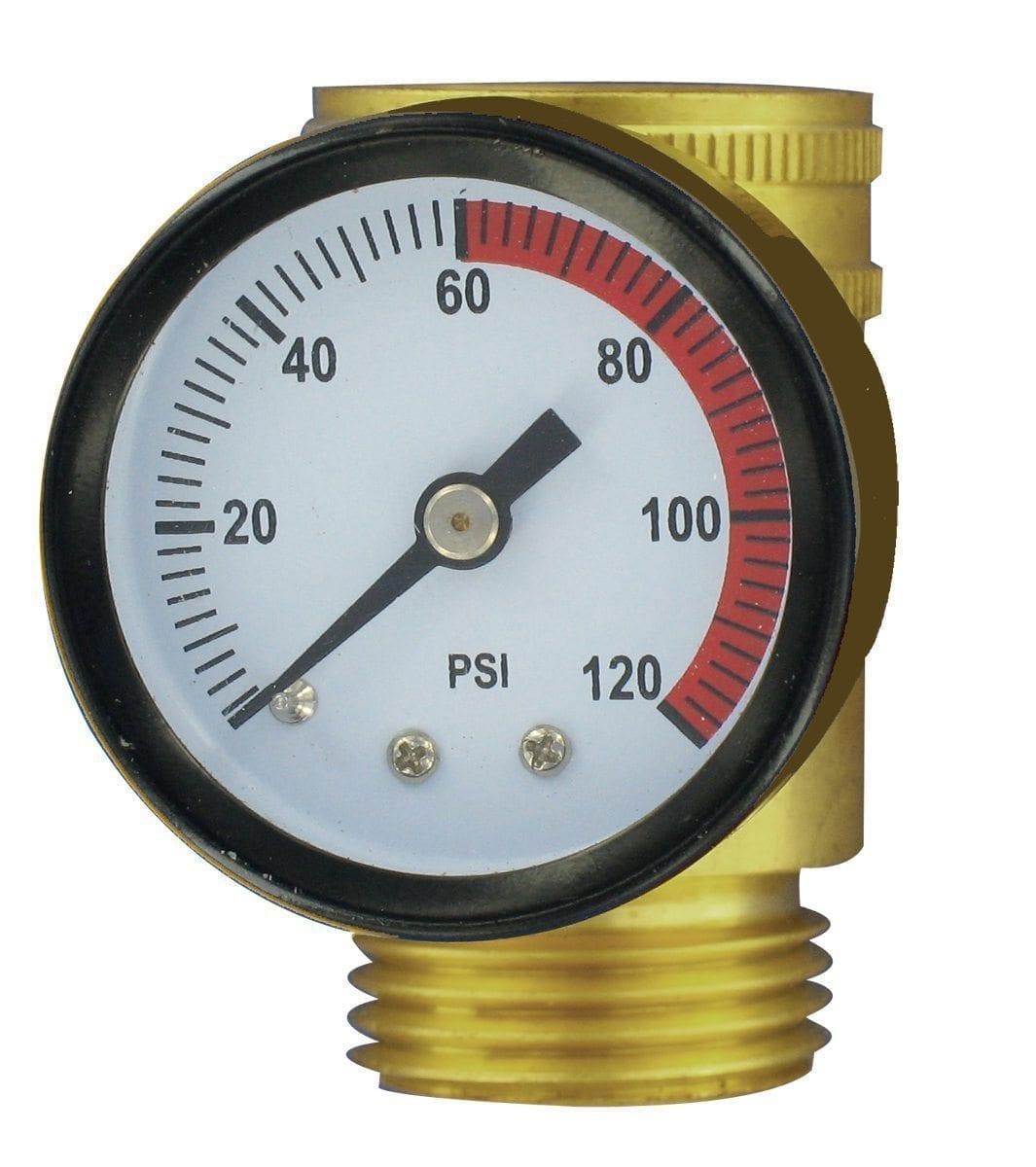 water pressure gauge brass lead free carded. Black Bedroom Furniture Sets. Home Design Ideas