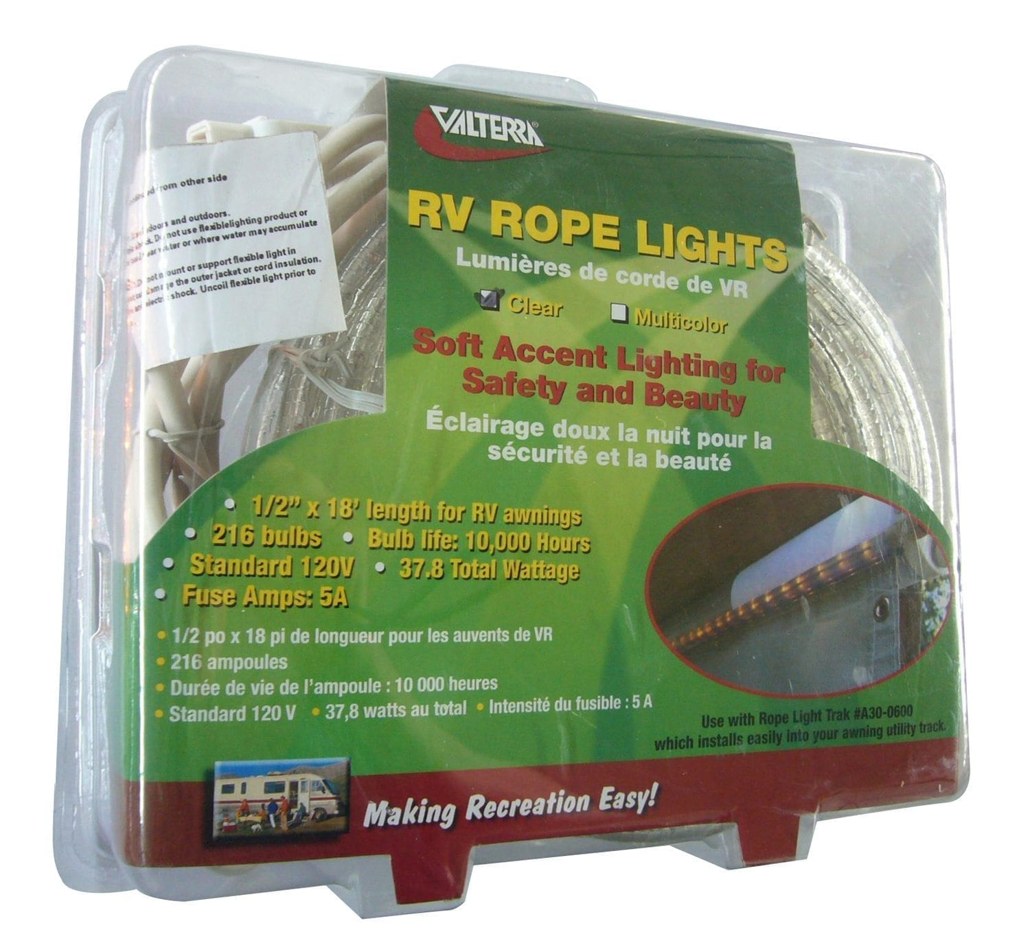 Rope Lights 18 Clear Clam Shell Valterra Com