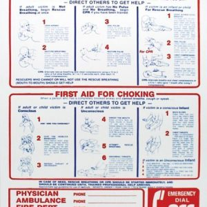 """Saving A Life"" – CPR Sign, 24″ X 18″"