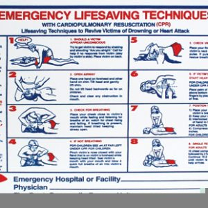 """Emergency Life Saving Techniques"" – CPR, 24″ x 18″"