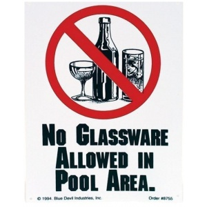 """No Glassware Allowed"", 9″ X 12″"