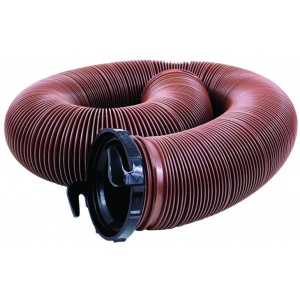 EZ Flush Standard Drain Hose, 10′, with T1024, Bronze, Bagged