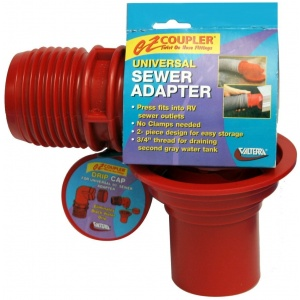 EZ Coupler Universal Sewer Adapter, Red, Carded