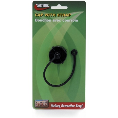 Hose Cap, 3/4″, with Strap, Black, Carded