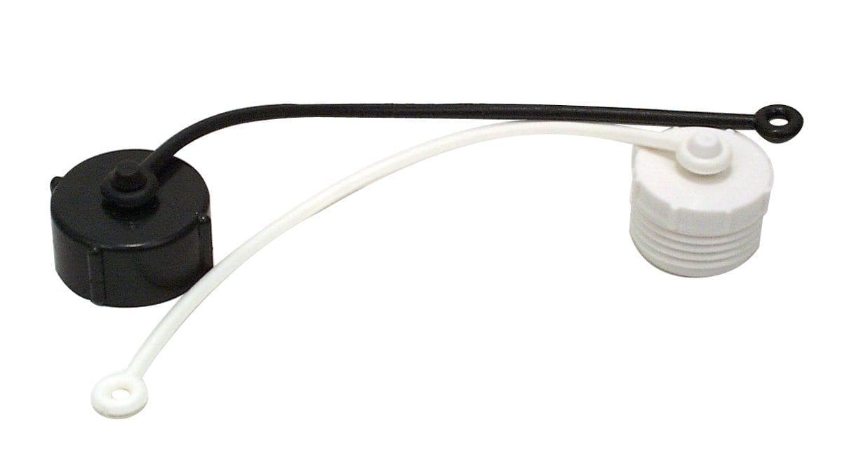 Hose Plug, 3/4″ Male Thread, with Strap, Off White, Bulk