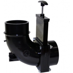 Ell 90° Rotating Valve, 3″ Hub x 3″ Elbow with Spigot Outlet