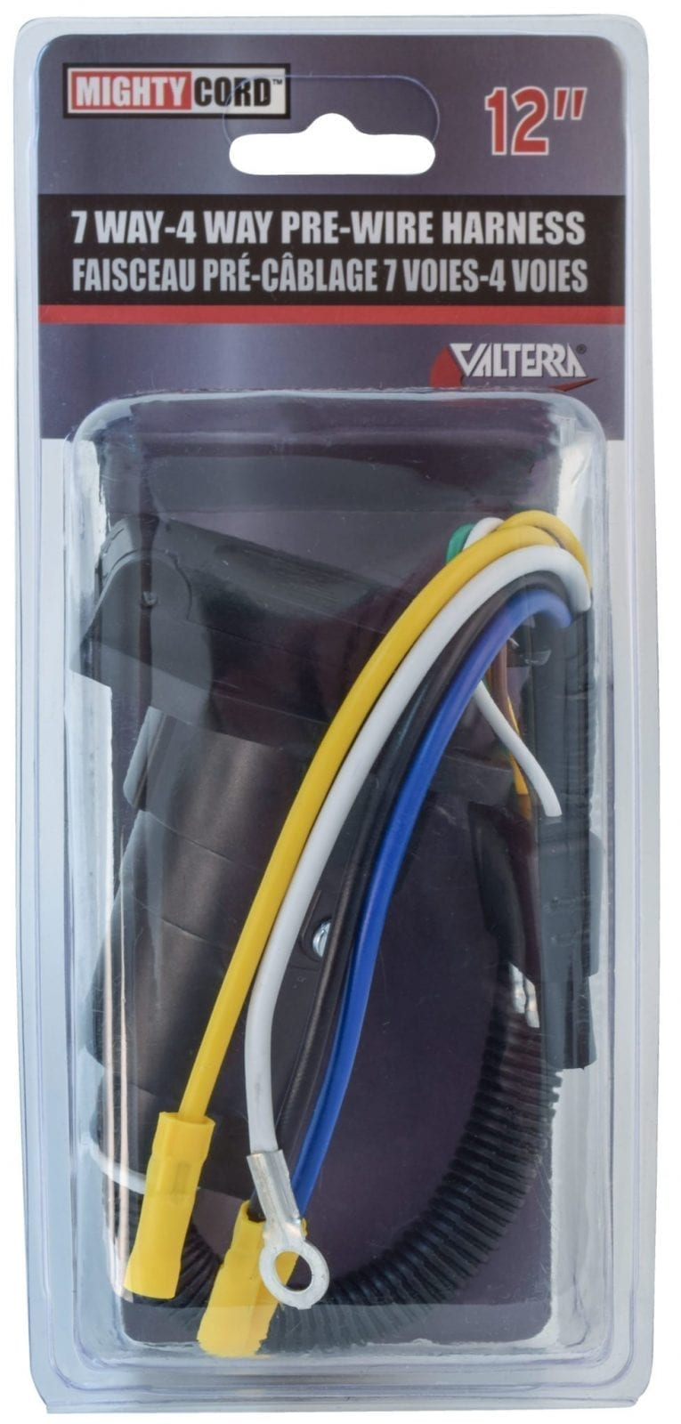 Mighty Cord 7 Way To 4 Pre Wire Harness 12 Carded Valterra Wiring 000
