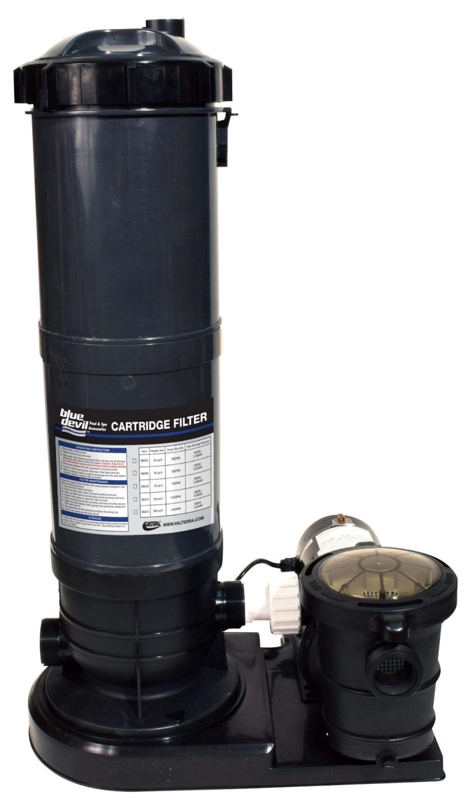 Cartridge Filter 70 Square Foot With 1 Hp Pump Valterra
