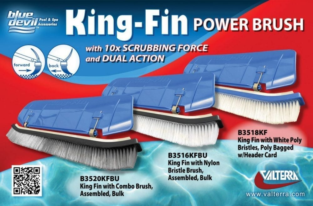 King-Fin Power Brush with Nylon/SS Bristles, Bulk