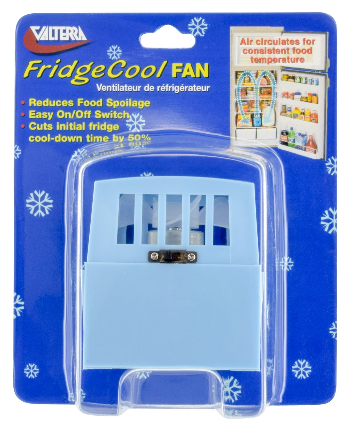 FridgeCool Fan With On/Off Switch, Carded