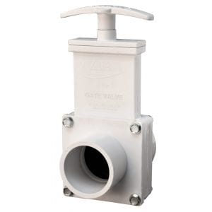 1-1//2 MPT x Slip Valterra 6105 PVC Gate Valve White