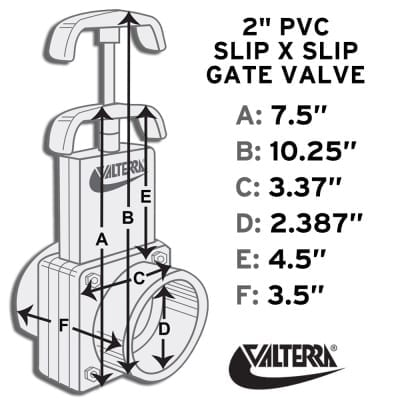 6201 2 PVC Gate Valve