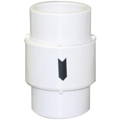 Air Check Valve, 1-1/2″ Slip / 2″ Spigot Compact Air Check, PVC White