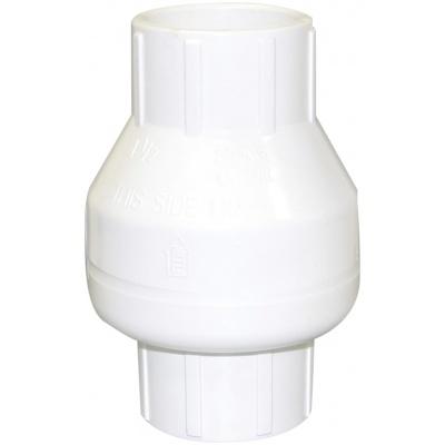 1-1/2″ Slip X Slip Swing Check, PVC White