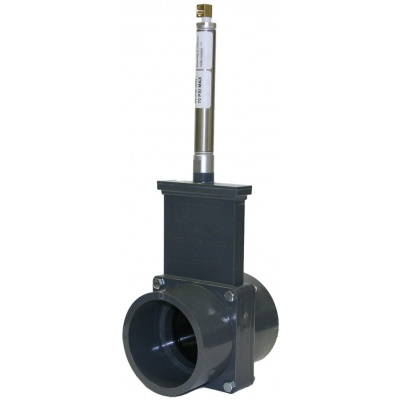 Metric Gate Valves with Plastic Paddles & Pneumatic Cylinder