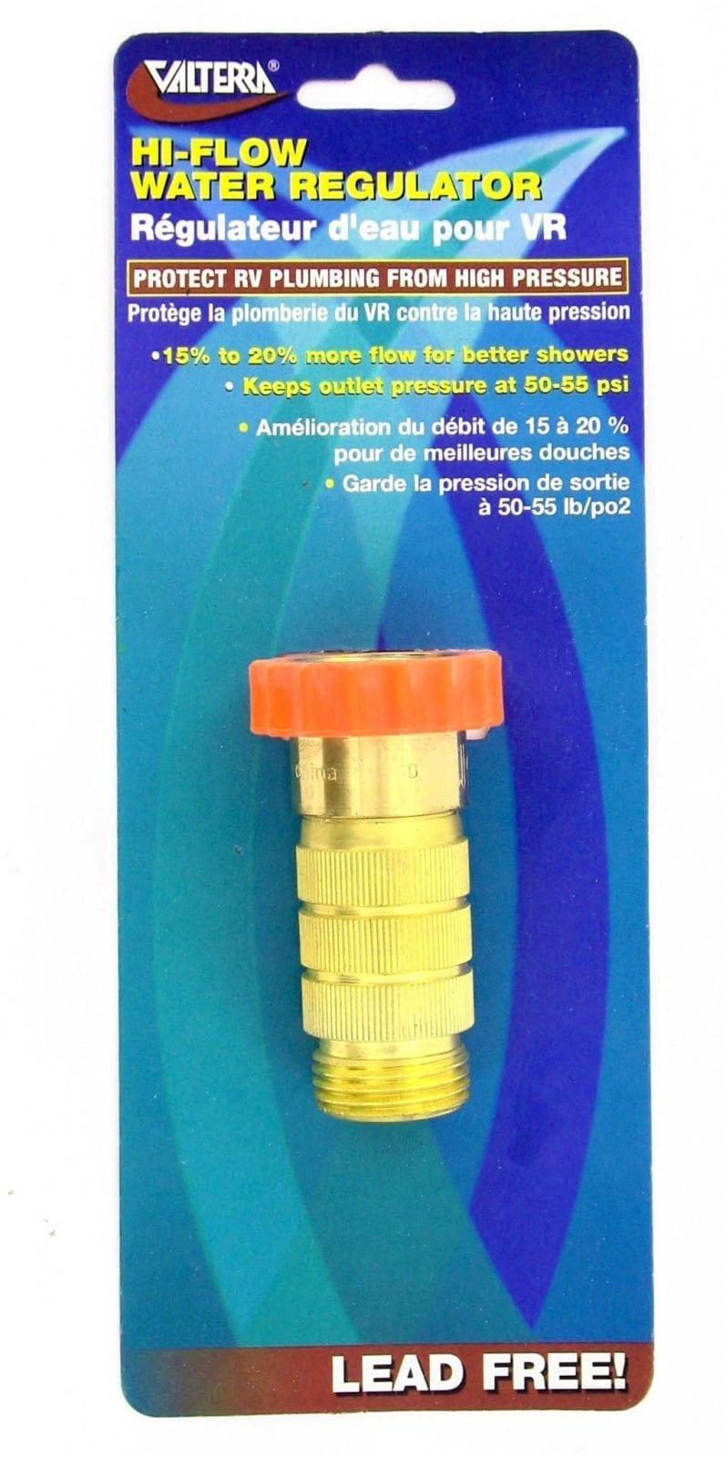 Water Regulator, High Flow, Brass, Lead-Free, Carded