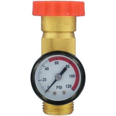 Water Regulator Gauge Combo, Brass, Lead-Free, Carded