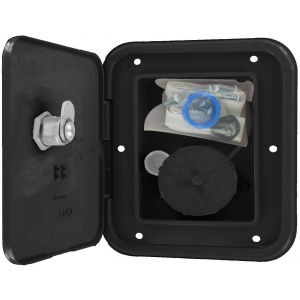 Universal Gravity Inlet Hatch, Black, Carded