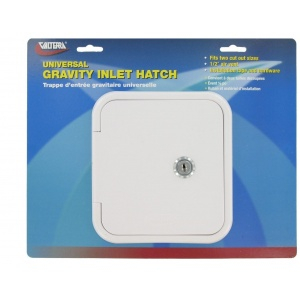 Universal Gravity Inlet Hatch, White, Carded