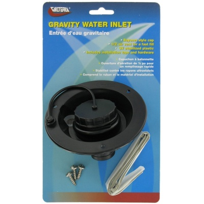 Gravity Water Inlet, Black, Carded
