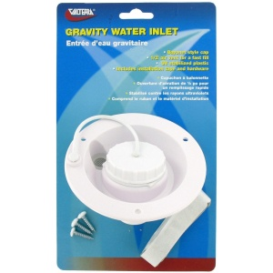 Gravity Water Inlet, White, Carded