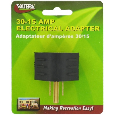 Electrical Adapter, 30/15 Amp, Carded