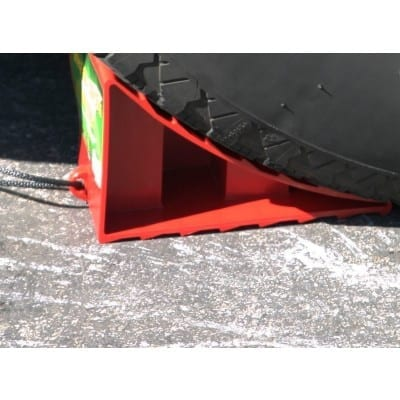 Wheel Chock, Red, Bulk
