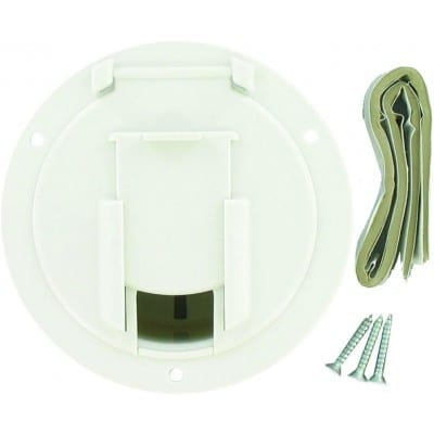 Cable Hatch, Medium Round, White, Carded