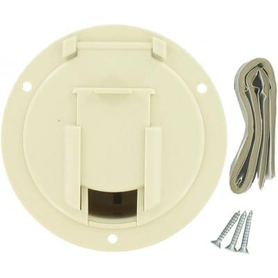 Cable Hatch, Medium Round, Col White, Carded