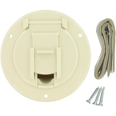 Cable Hatch, Small Round, Col White, Carded