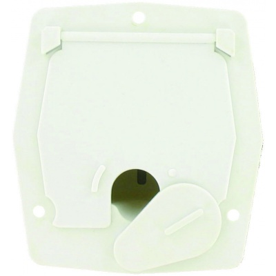 Cable Hatch, Small Square, White, Bulk