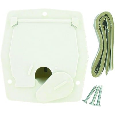 Cable Hatch, Small Square, White, Carded