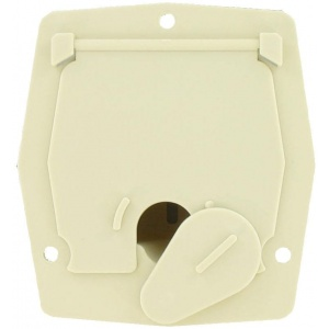 Cable Hatch, Small Square, Col White, Bulk