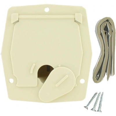 Cable Hatch, Small Square, Col White, Carded
