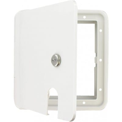 Cable Hatch, Large Square, White, Carded