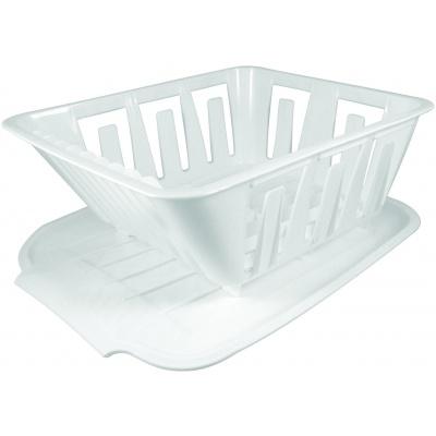 Mini Dish Drainer, White, Bagged