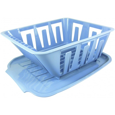 Mini Dish Drainer, Blue, Bagged