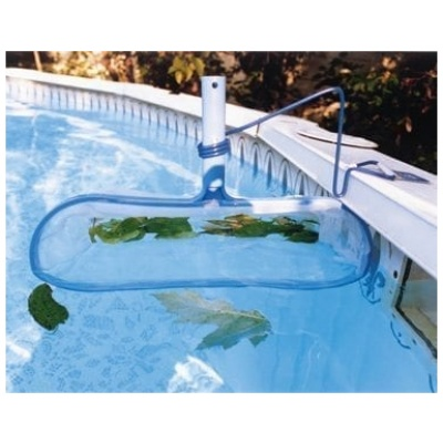 Skimz-It Leaf Rake W/Bracket For Above Ground Pools, Clam Shelled