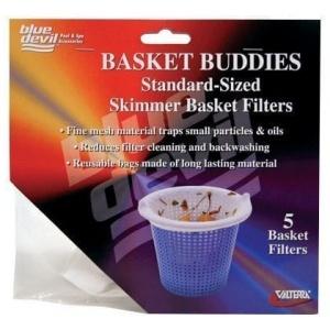 Basket Buddies, Skimmer Basket Filter Socks, Regular Size, 5 Per Card W/Display Box