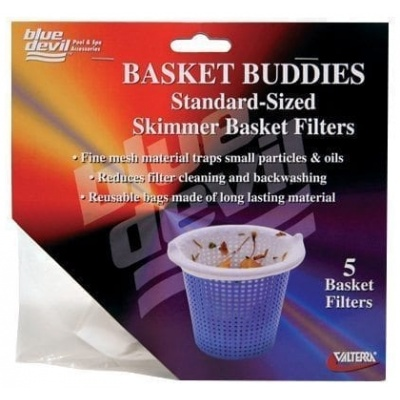 Basket Buddies, Skimmer Basket Filter Socks, Regular Size, 5 Per Card W/Display Box