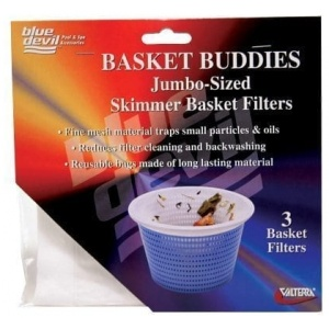 Basket Buddies, Skimmer Basket Filter Socks, Jumbo Size, 3 Per Card W/Display Box