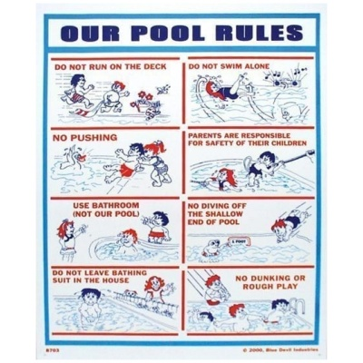 """Our Pool Rules"", 18″ x 24″"