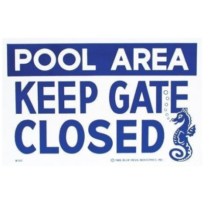 """Keep Gate Closed"", 18″ X 12″"