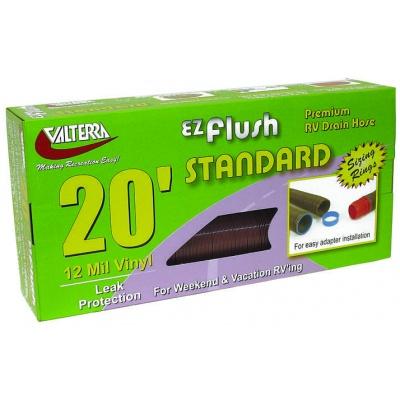 EZ Flush Standard Drain Hose, 20′, Bronze, Boxed