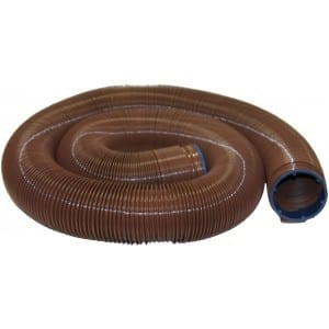 EZ Flush Heavy Duty Drain Hose, 20′, Bronze, Boxed