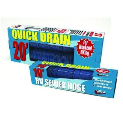 Quick Drain Hose, Standard, 20′, Blue, Boxed