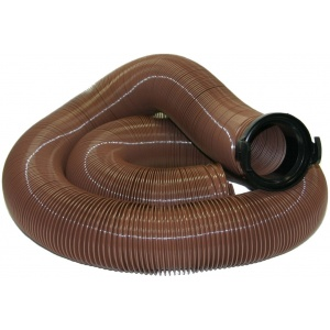 EZ Flush Heavy Duty Drain Hose, 20′, with T1024, Bronze, Bagged